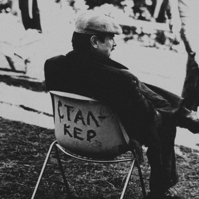 Andrei Tarkovsky in the set of Stalker