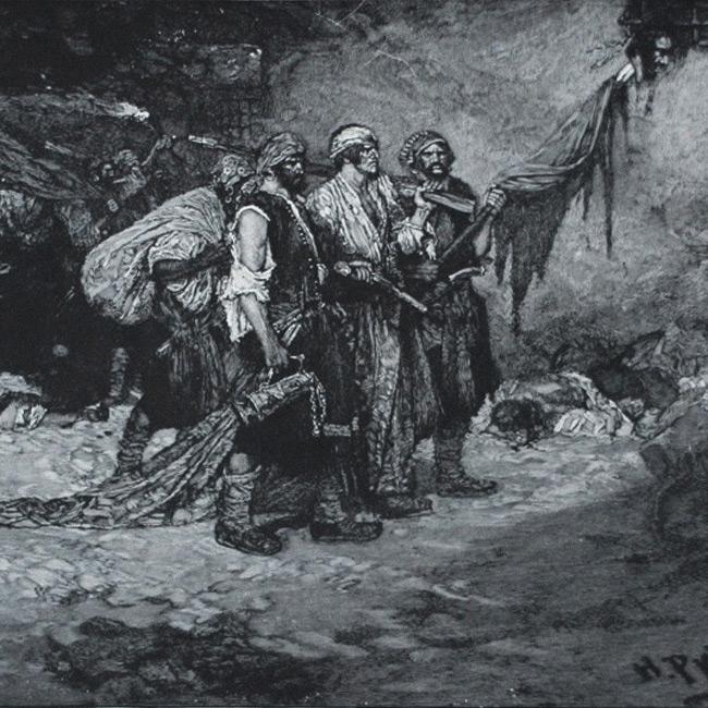 Buccaneers with their loot by Howard Pyle