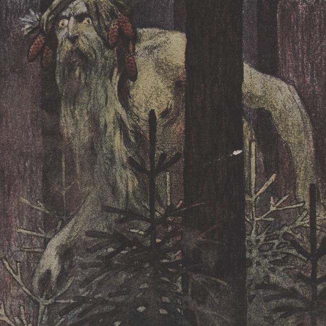 N.Brunt - Drawing of Leshy (1906)