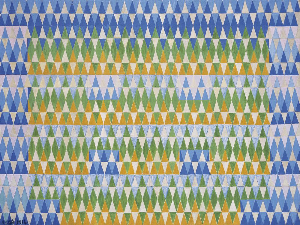 Compenetrazione iridescente - Eucalyptus by Giacomo Balla