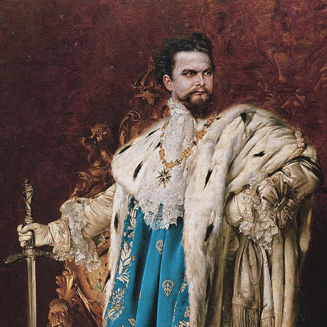 The portrait of Ludwig II
