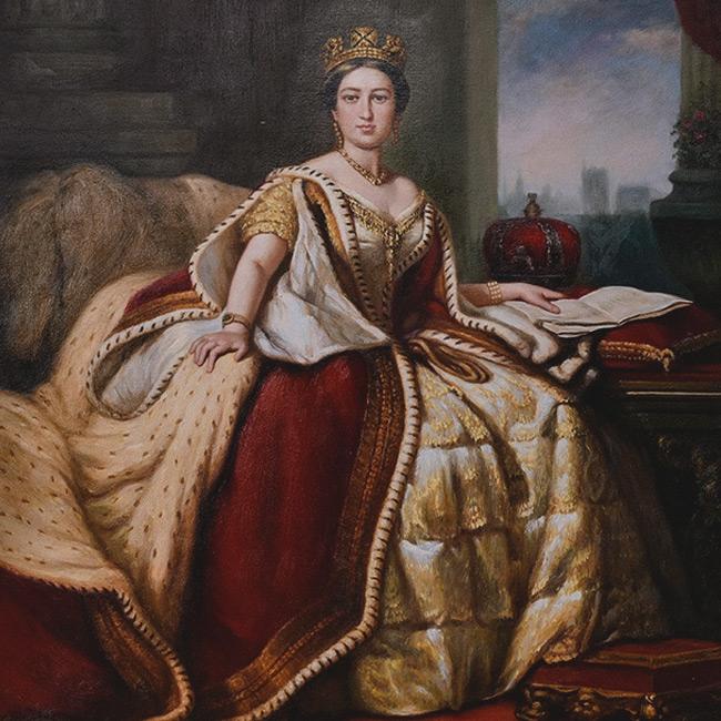The portrait of Queen Victoria