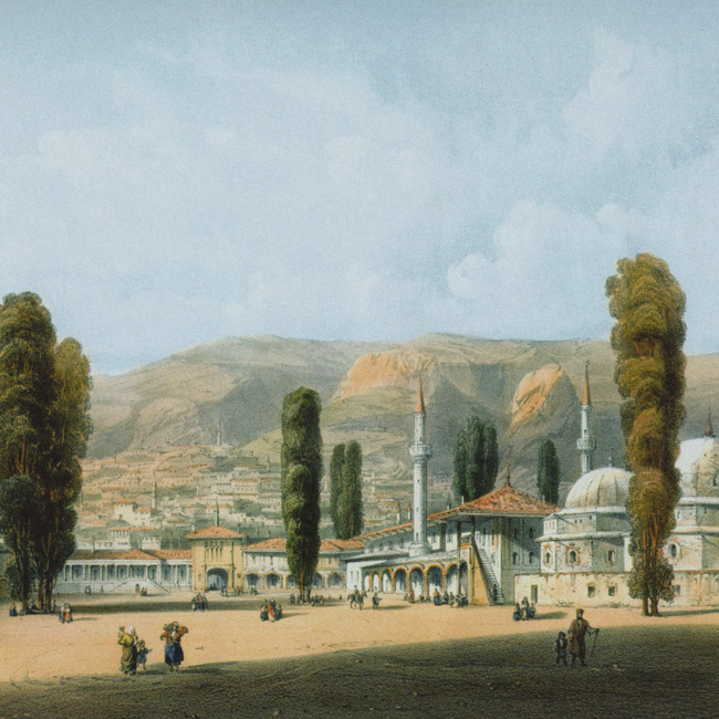 The view of Bakhchysarai by Carlo Bossoli